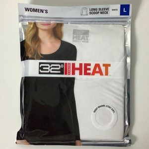 Women's long sleeve Scoop Neck 32 degrees